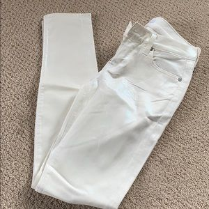 7 for All Mankind Skinny Iridescent White Jeans 26